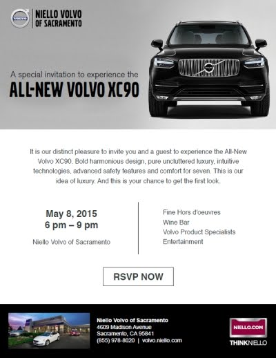 XC90 Event Invitation
